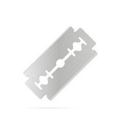 razor blade on white background vector image