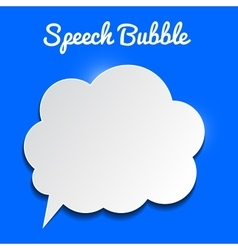 speech bubble on blue background vector image vector image