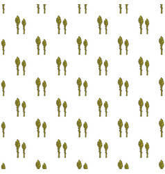 asparagus hand drawn on white background hand vector image vector image