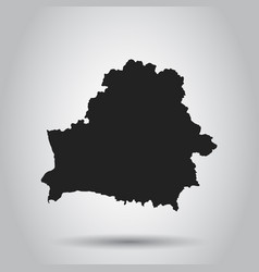 Belarus map black icon on white background vector
