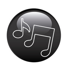 Black circular frame with musical notes vector