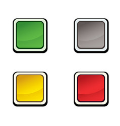 button set icon design elements vector image vector image