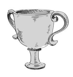 Prize trophy icon vector image