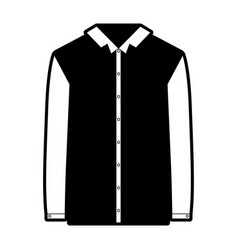 black sections silhouette of shirt long sleeve man vector image
