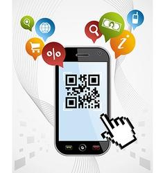 Smart Phone QR code application vector image