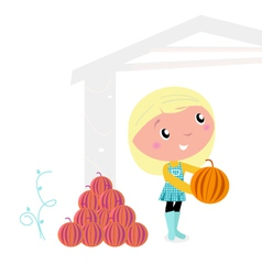 thanksgiving child vector image vector image