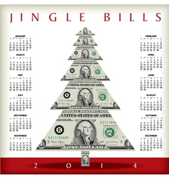 2014 Christmas Jingle Calendar vector image