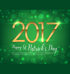 2017 text green clover vector image