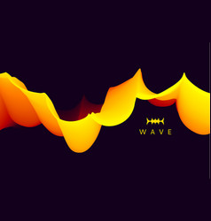 3d wavy background with dynamic effect abstract vector image