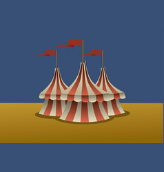a group three circus tents vector image