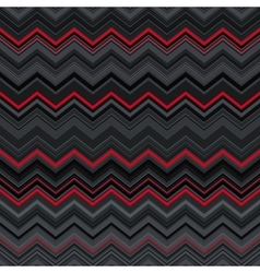 Abstract black red and grey zig-zag warped vector image