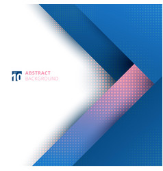 Abstract template design geometric blue and pink vector