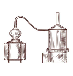 Alembic engraved style isolated on white vector