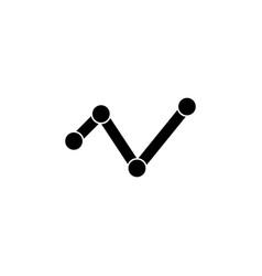 analytics bar chart graph icon signs and symbols vector image