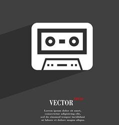 audiocassette symbol Flat modern web design with vector image