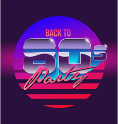 Back to 80s sign banner vintage vector