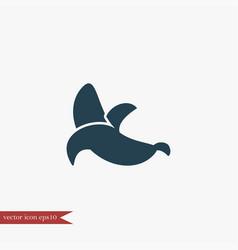 Banan icon simple fruit vector