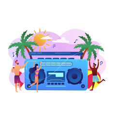 beach party concept vector image