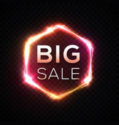 big sale banner original discount neon sign vector image