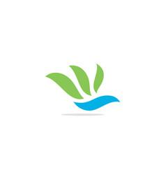 bird fly eco leaf abstract logo vector image