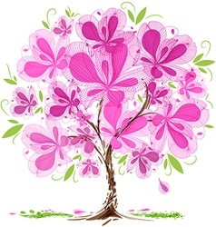 Blossom tree design vector