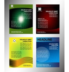 Brochure layout design set vector