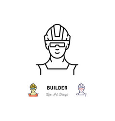 builder icon work man isolated worker in a vector image vector image