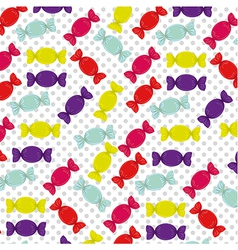 Candy pattern on a background of dots vector
