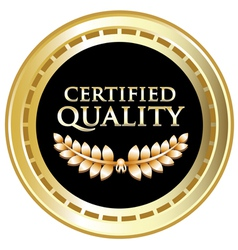 Certified Quality Black Label vector
