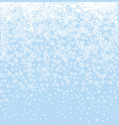 christmas snow background winter holiday seamless vector image
