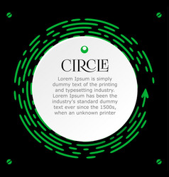 circle infographic for the presentation bright vector image