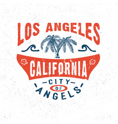 city of angels los angeles california vector image