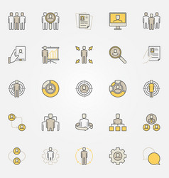 colorful human resources icons vector image