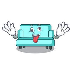 Crazy sofa mascot cartoon style vector