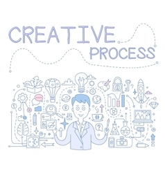 Creative Process Handdrawn vector image