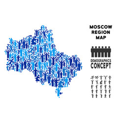 Demographics moscow oblast map vector
