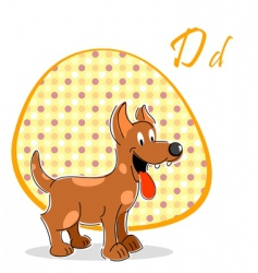 dog vector image