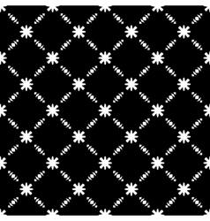 Elegant Black and White Flower Seamless Pattern vector