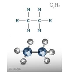 Ethane molecule image vector