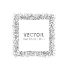 festive silver sparkle background glitter border vector