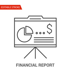 financial report icon line vector image