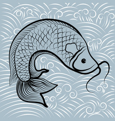 Fish chinese vector
