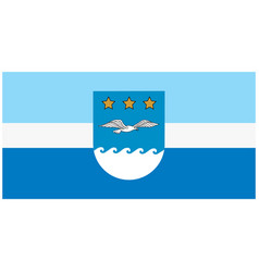 flag of jurmala city latvia ilustration vector image