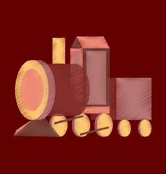 flat shading style icon toy train vector image