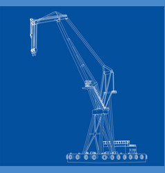 Floating crane vector