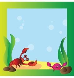 Frame - marine life vector