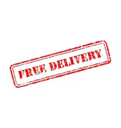 Free delivery rubber stamp vector image