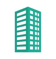 Green building line sticker image vector image