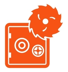 Hacking theft icon from Business Bicolor Set vector image vector image