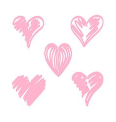 Hearts temp brush pink vector